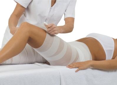 Zabiegi antycellulitowe z bandażami Arosha
